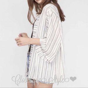 Striped Kimono Cardigan